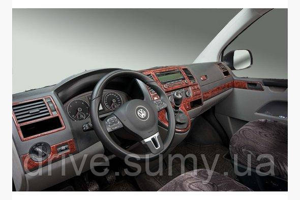 Накладки на панель Volkswagen T5 рестайлинг 2010-2015 Титан