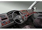Накладки на панель Volkswagen T5 рестайлинг 2010-2015 Титан, фото 6