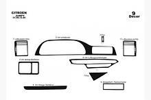 Накладки на панель Fiat Scudo 1996-2007 Карбон