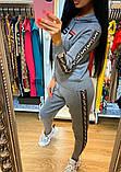 Жіночий костюм Fendi машинна в'язка з лампасами, фото 4