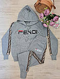 Жіночий костюм Fendi машинна в'язка з лампасами, фото 7