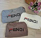 Жіночий костюм Fendi машинна в'язка з лампасами, фото 8