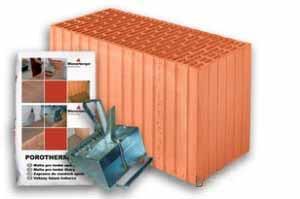 Керамический блок Porotherm 44 1/2 Eko+ Dryfix