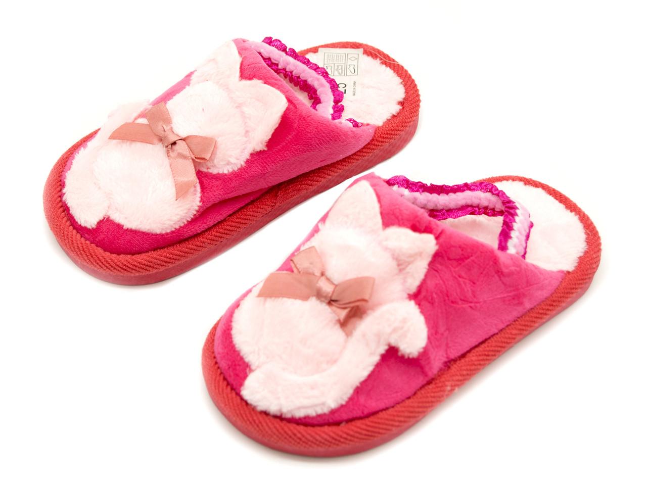 Комнатные тапочки Для девочек Темно-розовый