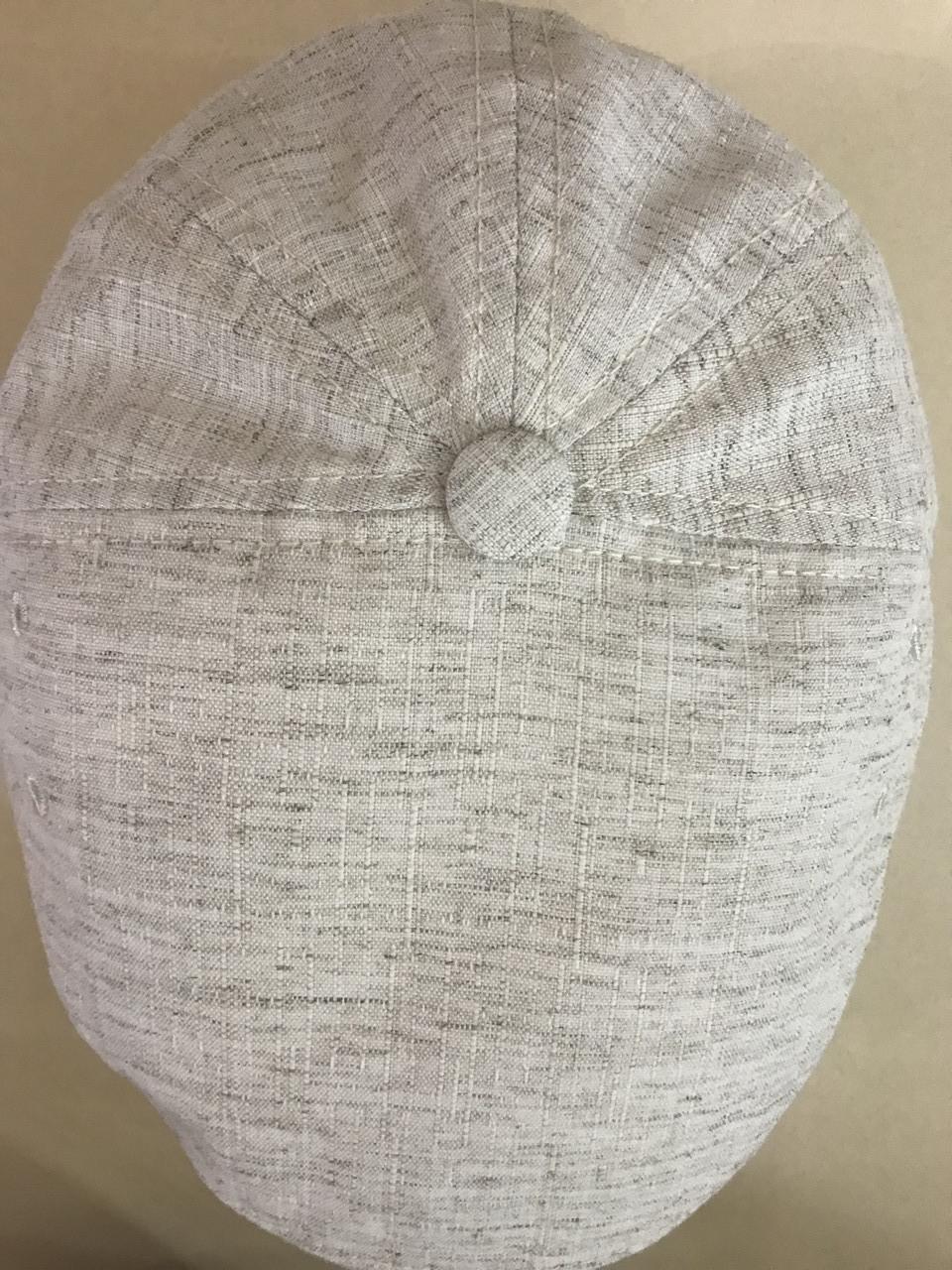 Мужская кепка лён пятиклинка 56-57 59-60 цвет молочный