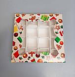 """Коробка картонная для конфет с принтом """"Сапожок"""" 155*155*30, фото 2"""