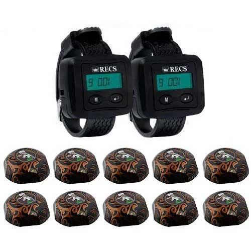 Система вызова официанта RECS №113   кнопки вызова официанта 10 шт + 2 пейджера официанта