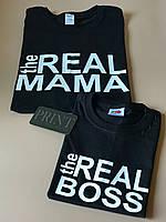 Футболки в стиле Family look для мамы и ребенка - The real МАМА \ The real BOSS