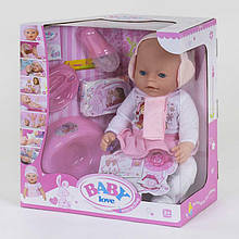 Лялька пупс функціональний з аксесуарами Baby Love арт.BL 010 B