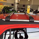 Багажник на крышу Seat Leon 2013- хром на интегрированные рейлинги, фото 3
