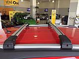 Багажник на крышу Seat Leon 2013- хром на интегрированные рейлинги, фото 4