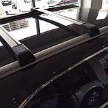 Багажник Seat Leon 2013- хром на интегрированные рейлинги, фото 6
