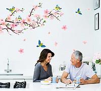 Наклейка для декора стен в интерьере Цветущая яблоня