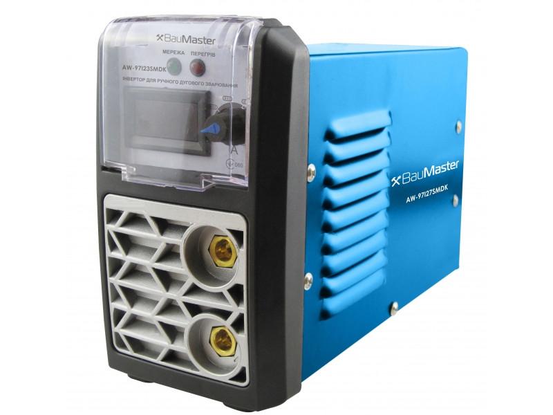 Инвертор сварочный IGBT 270А, смарт, дисплей, кейс, BauMaster AW-97I27SMDK