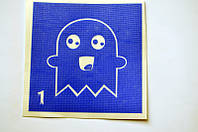 Трафарет для Био Тату 6*6 1 Хеллоуин(одноразовый)