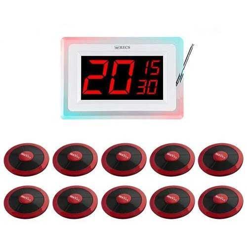 Система виклику офіціанта RECS №101 | кнопки виклику офіціанта 10 шт + приймач дзвінки на 3 номери