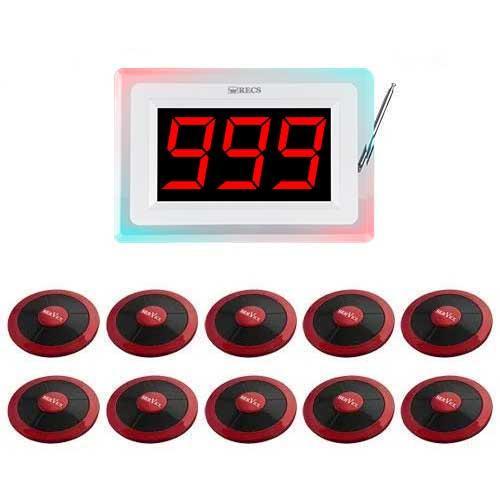 Система вызова официанта RECS №100 | кнопки вызова официанта 10 шт + приемник вызовов