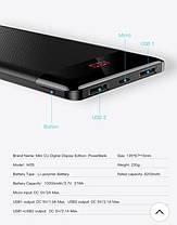 Повербанк BASEUS Mini Cu with diital display M35 10000mAh |2USB, 2.1A| Black, фото 3