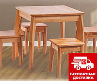 Стол обеденный Квадро (1 м.), Румерин