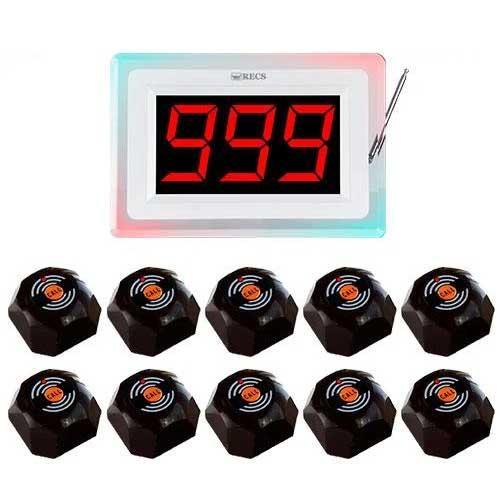 Система виклику офіціанта RECS №78   кнопки виклику офіціанта 10 шт + приймач викликів