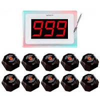 Система виклику офіціанта RECS №78   кнопки виклику офіціанта 10 шт + приймач викликів, фото 1