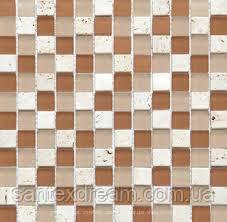Мозаика Kale-Bareks CS11 мрамор стекло (2,3х2,3) 30x30