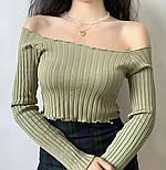 Жіноча кофточка/джемпер рубчик (в кольорах), фото 4