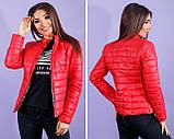 Жіноча демісезонна куртка Шанель норма і батал в кольорах, фото 2