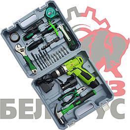 Шуруповерт Белорус МТЗ ДА12-2ЛН с набором инструментов