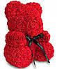 Мишка из Роз 25см, Мишка из цветов в подарочной коробке, фото 2