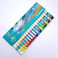 Краски акриловые Global Водостойкие 18 цветов по 6 мл