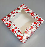 """Коробка для пряников с окошком """"Сердце"""" 260х260х90, фото 4"""