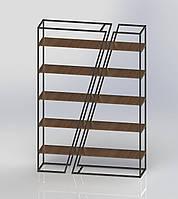 Стеллаж металлический в стиле ЛОФТ 5 полок
