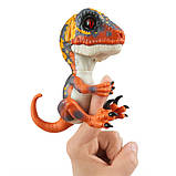 WowWee Fingerlings Интерактивный ручной динозавр Blaze Baby Dinosaur Untamed Raptor Interactive, фото 2