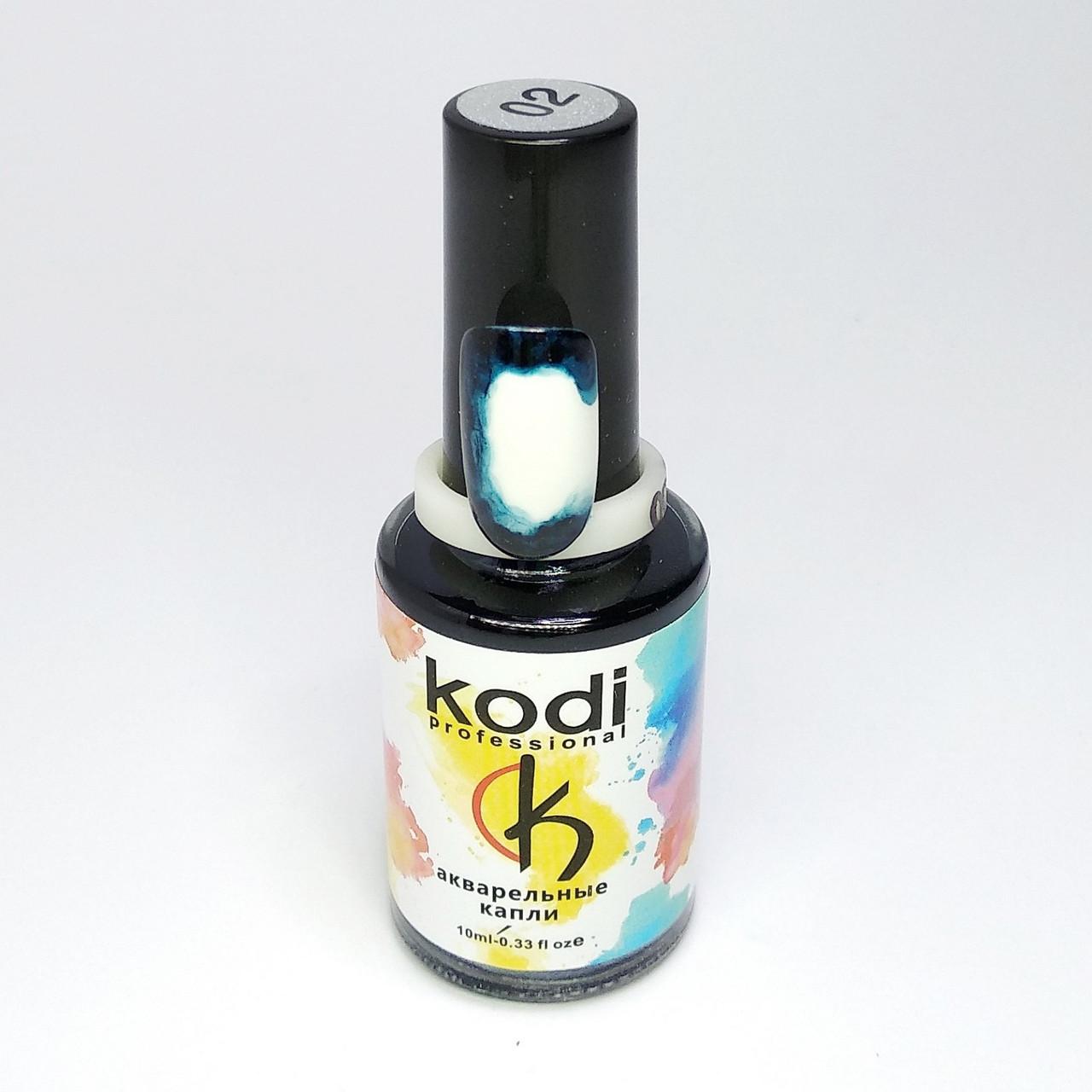 Акварельные капли для дизайна ногтей Kodi Professional 02