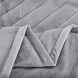 Королевский плед Шиншилла двухслойный, Коричневый, размер 220х240 см, фото 7