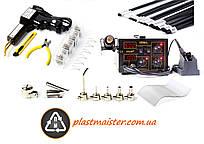 Супер комплект для ремонта пластмасс - ZT1 + 852D+ (горячий степлер + паяльная станция + пластик + насадки)