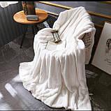 Королевский плед Шиншилла двухслойный, Бордовый, размер 220х240 см, фото 9
