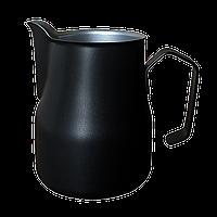 Професійний пітчер (молочник) Motta Europa 350 мл Чорний тефлон