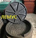 Люк полимерпесчаный черный  нагрузка до 4,5т с запорным устройством, фото 3