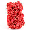 Мишка из Роз 25см  + ПОДАРОК! Мишка из цветов в подарочной коробке, фото 3
