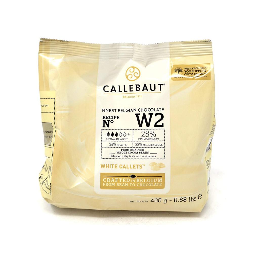 Шоколад кондитерский белый 28% Callebaut 0.4кг