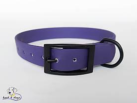 Ошейник из биотана, Фиолетовый, 19мм(черная пряжка)