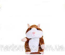 Мягкая интерактивная игрушка Говорящий хомяк, фото 3