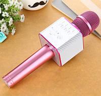 ОРИГИНАЛ! Микрофон караоке с колонками MicGeek Q9 Розовый. Беспроводной. Лучший детский подарок, фото 1