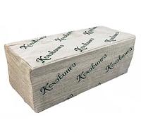 Полотенце бумажное листовое серое V сложением макулатурное 170 шт 1сл ТМ Каховинка, фото 1