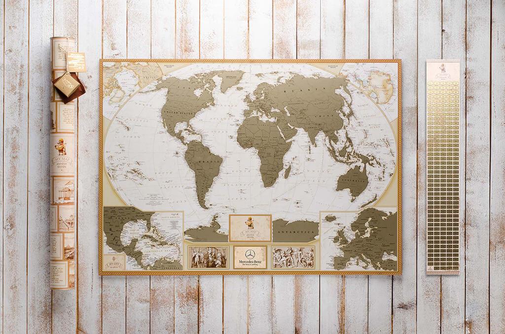 Скретч-карта світу