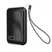 Повербанк BASEUS Mini S Bracket with wireless charger 10000mAh |1USB/1Type-c, QC/PD, 10W/18W|. Black, фото 2