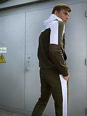 Мужской спортивный костюм хаки - белый Spirited Intruder Кофта худи + штаны размер S M L XL XXL, фото 3