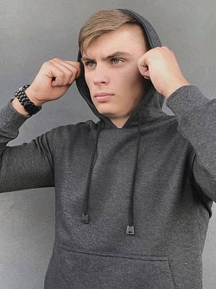 Худи Мужское Intruder 'Spark' темно серое спортивная кофта трикотаж + Подарок, фото 2
